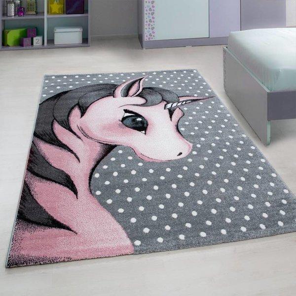 Adana Carpets Kindervloerkleed - Eenhoorn Roze