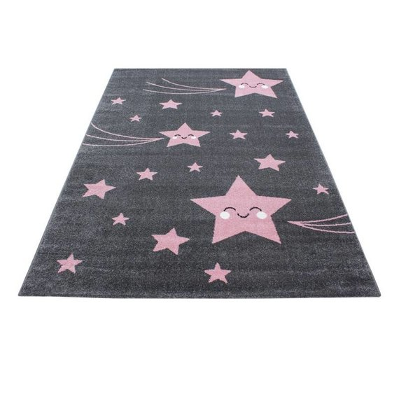Adana Carpets Kindervloerkleed - Anna Sterren Roze