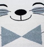 Adana Carpets Rond Kindervloerkleed - Anna Kat Blauw