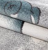 MoMo Carpets Kindervloerkleed - Beertje Blauw Rond