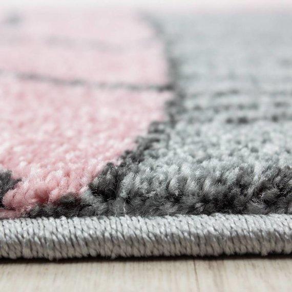 Adana Carpets Rond Kindervloerkleed - Anna Beertje Roze