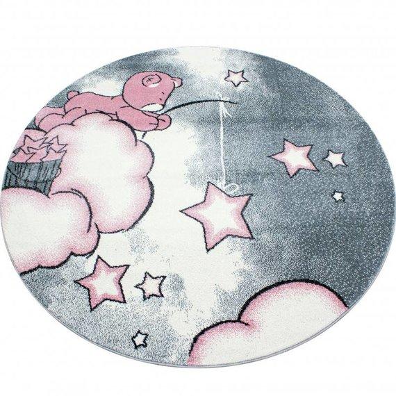 MoMo Carpets Kindervloerkleed - Beertje Roze Rond