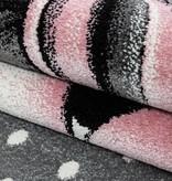 MoMo Carpets Kindervloerkleed - Eenhoorn Roze Rond