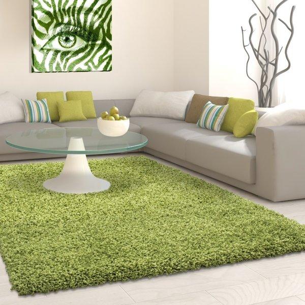 Hoogpolig vloerkleed - Life Groen