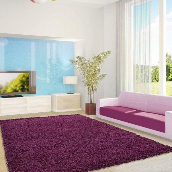 Adana Carpets Hoogpolig vloerkleed - Life Paars