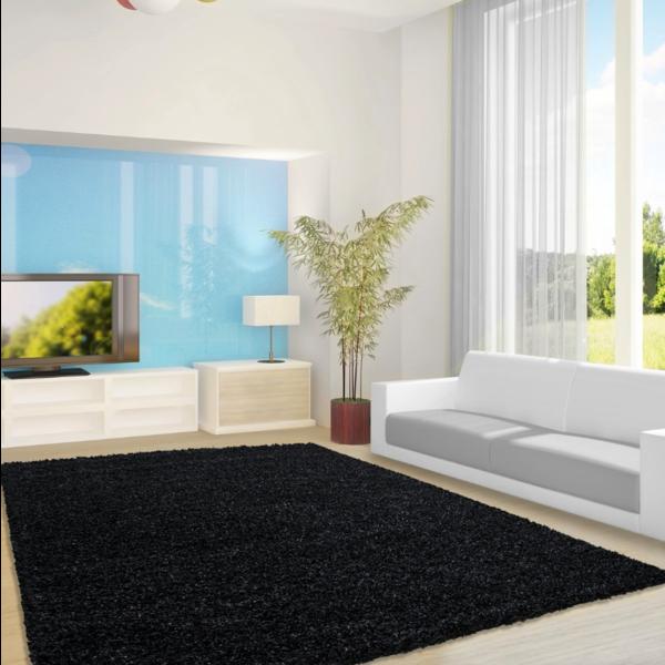 Adana Carpets Hoogpolig vloerkleed - Life Zwart