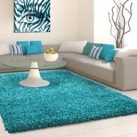 Adana Carpets Hoogpolig vloerkleed - Life Turquoise
