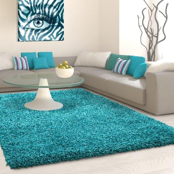 Hoogpolig vloerkleed - Life Turquoise
