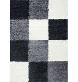 Hoogpolig vloerkleed - Cube Zwart