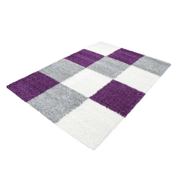Adana Carpets Hoogpolig vloerkleed - Cube Paars