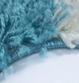 Hoogpolig vloerkleed - Cube Turquoise