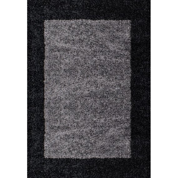 Hoogpolig vloerkleed - Edge Zwart