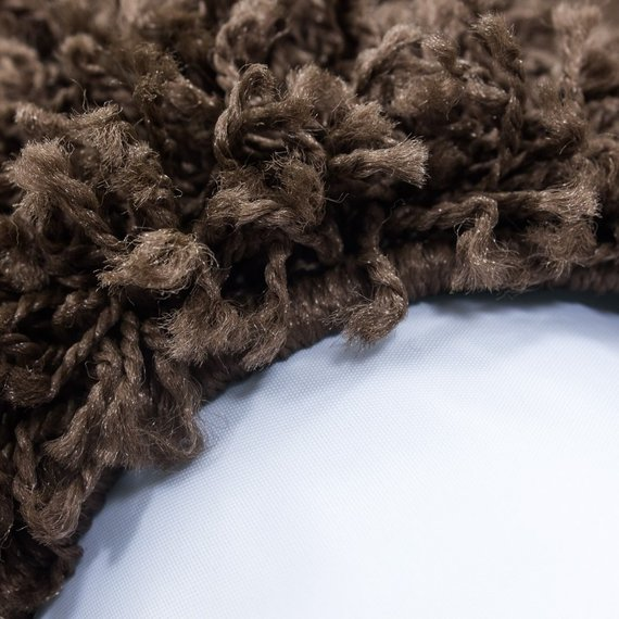 Adana Carpets Rond Hoogpolig vloerkleed - Life Bruin