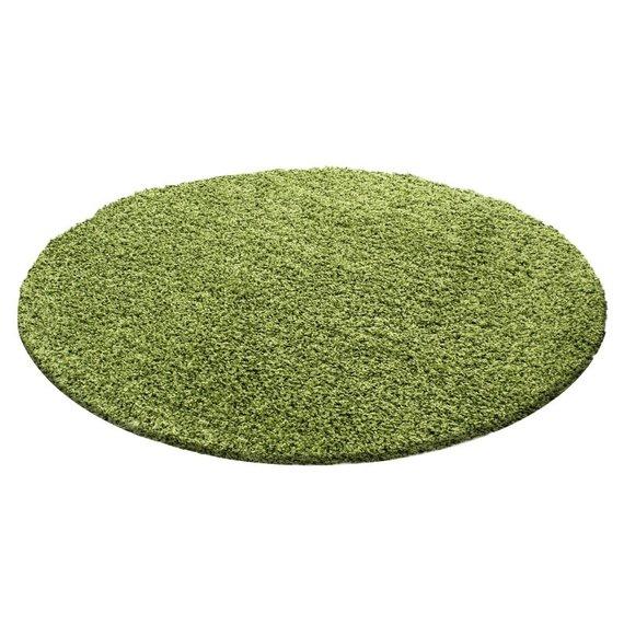Rond Hoogpolig vloerkleed - Life Groen