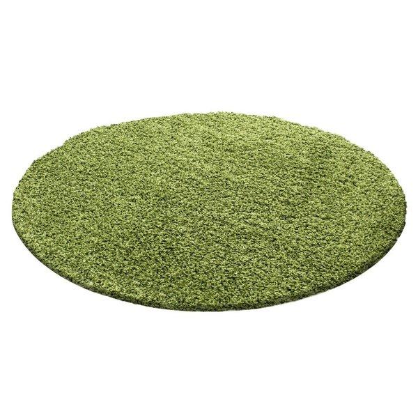 Adana Carpets Rond Hoogpolig vloerkleed - Life Groen