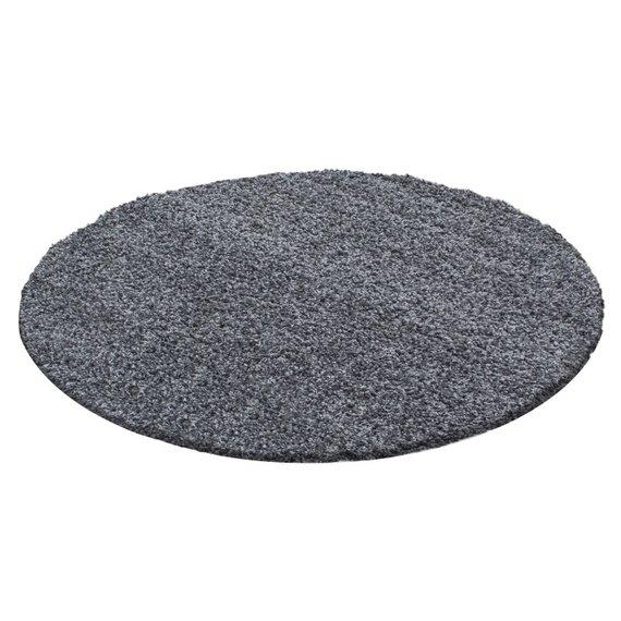 Adana Carpets Rond Hoogpolig vloerkleed - Life Grijs