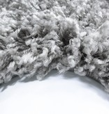 Adana Carpets Rond Hoogpolig vloerkleed - Life Licht Grijs