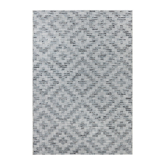 ELLE Decor Patroon vloerkleed – Curious Blauw/Crème Creil