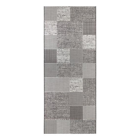 ELLE Decor Patchwork vloerkleed – Curious Antraciet Creme Agen