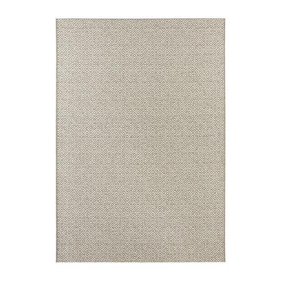 ELLE Decor Laagpolig vloerkleed – Bloom Beige/Crème Croix
