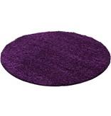 Adana Carpets Rond Hoogpolig vloerkleed - Life Paars