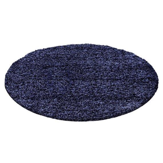 Rond Hoogpolig vloerkleed - Life Blauw