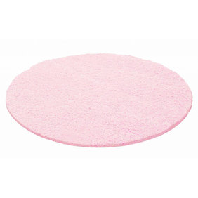 Adana Carpets Rond Hoogpolig vloerkleed - Life Roze