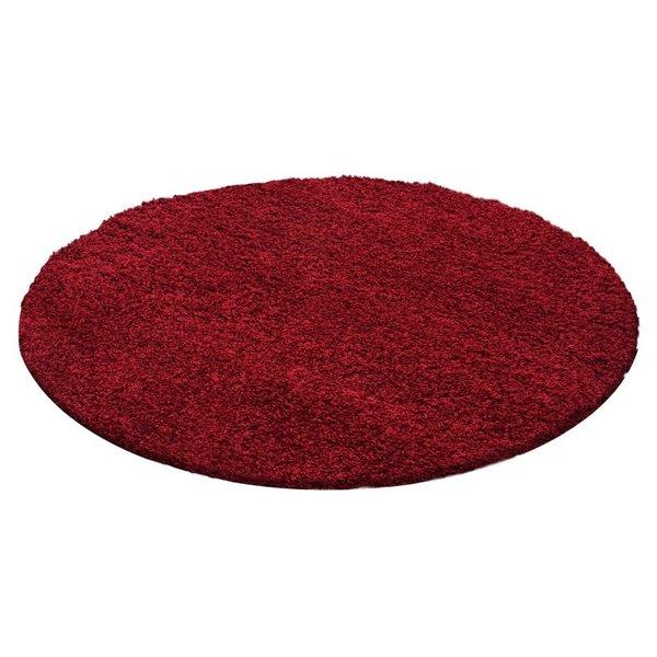 Adana Carpets Rond Hoogpolig vloerkleed - Life Rood