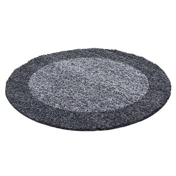 Adana Carpets Rond Hoogpolig vloerkleed - Edge Grijs