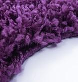 Adana Carpets Rond Hoogpolig vloerkleed - Edge Paars