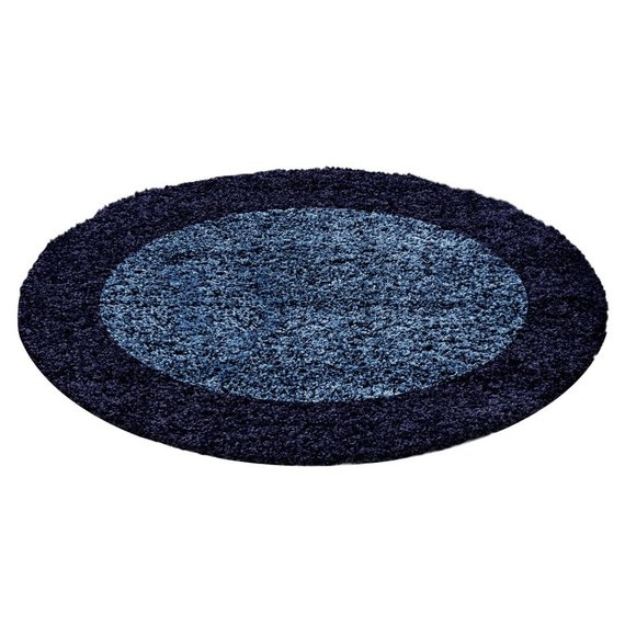 Adana Carpets Rond Hoogpolig vloerkleed - Edge Blauw