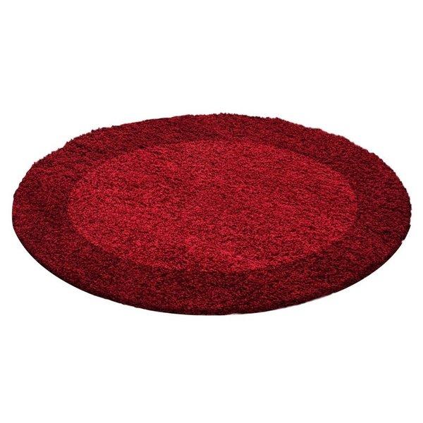 Adana Carpets Rond Hoogpolig vloerkleed - Edge Rood