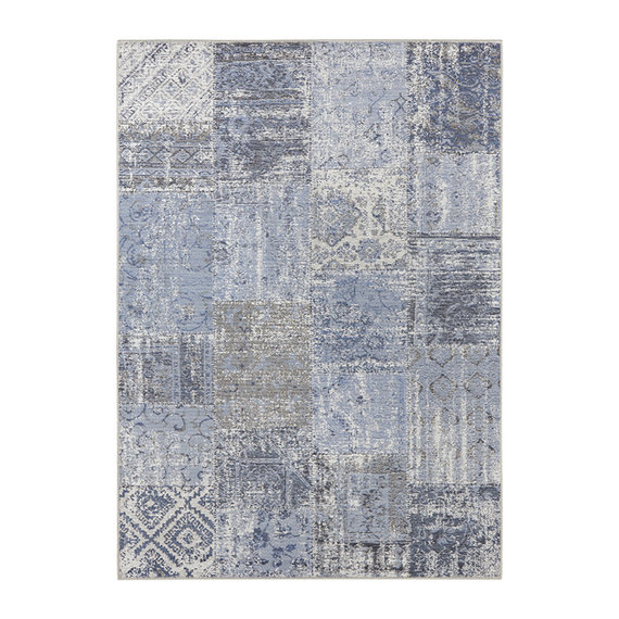 ELLE DECORATION Patchwork vloerkleed – Pleasure Blauw/Zwart Denain