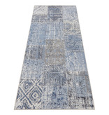 ELLE Decor Patchwork vloerkleed – Pleasure Blauw/Zwart Denain