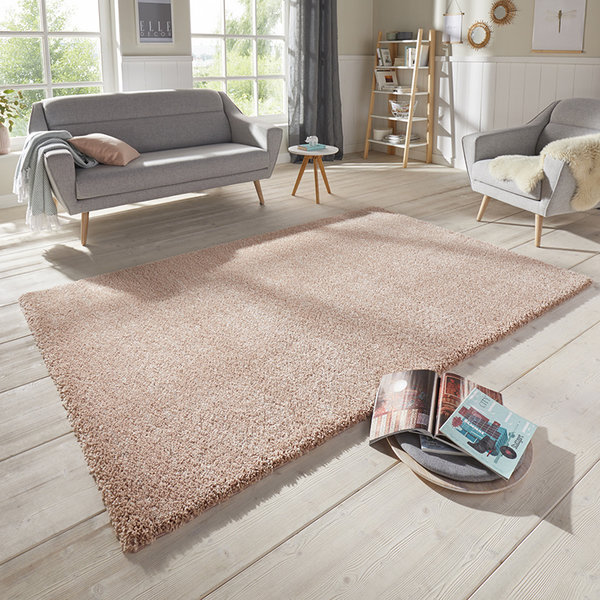 ELLE Decor Effen vloerkleed – Passion Abrikoos Orly