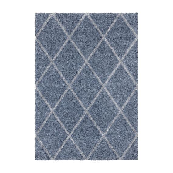 ELLE Decor Scandinavisch vloerkleed – Maniac Blauw/Zilver Lunel