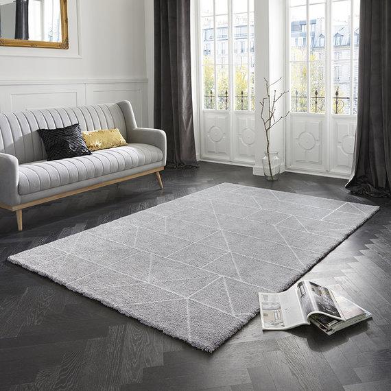 ELLE DECORATION Scandinavisch vloerkleed – Maniac Zilver Creme Arles