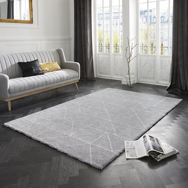 Scandinavisch vloerkleed – Maniac Zilver Creme Arles