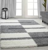 Adana Carpets Hoogpolig vloerkleed - Gala Licht Grijs