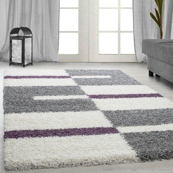 Adana Carpets Hoogpolig vloerkleed - Gala Paars