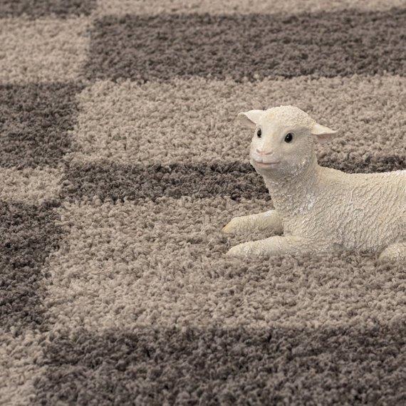 Adana Carpets Hoogpolig vloerkleed - Gala Taupe