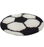 Adana Carpets Rond Hoogpolig vloerkleed - Fun Zwart