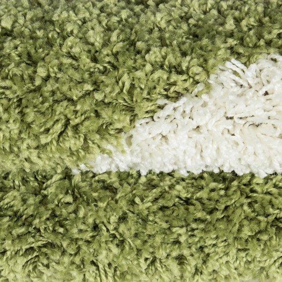 Adana Carpets Rond Hoogpolig vloerkleed - Fun Groen