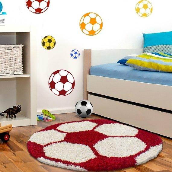 Adana Carpets Rond Hoogpolig vloerkleed - Fun Rood