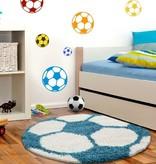 Adana Carpets Rond Hoogpolig vloerkleed - Fun Turquoise