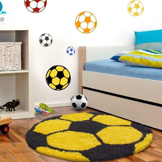 Adana Carpets Rond Hoogpolig vloerkleed - Fun Geel