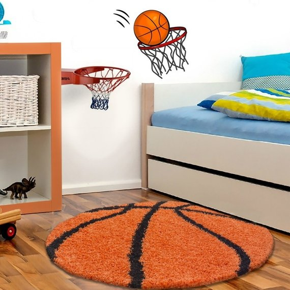 Adana Carpets Rond Hoogpolig vloerkleed - Oranje