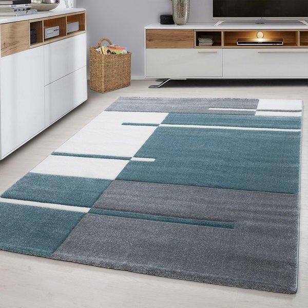 Modern vloerkleed - Tetris Blauw 1310