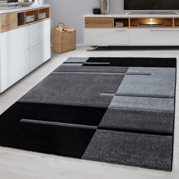 Modern vloerkleed - Tetris Grijs 1310