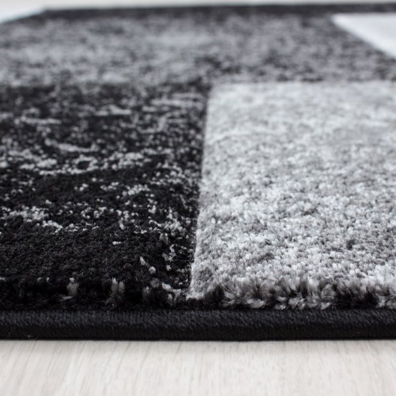 Adana Carpets Modern vloerkleed - Tetris Zwart 1330